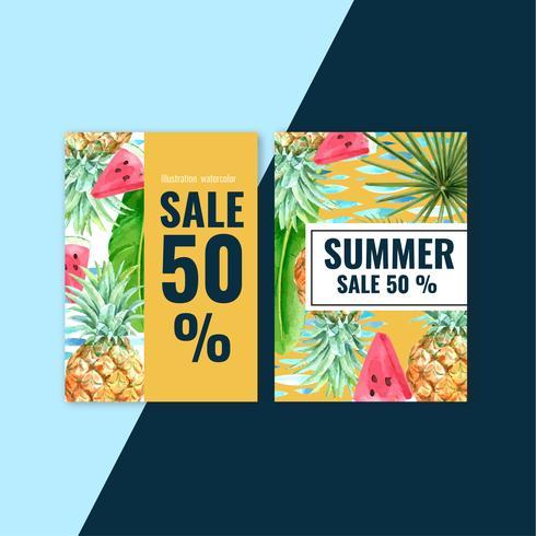 Sommer Einladungskarte Design vektor