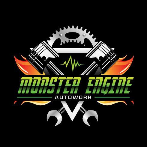 Feuerkraft Monster Engine Icon vektor