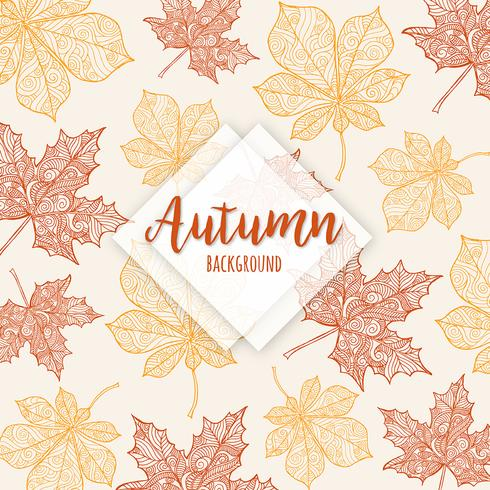 Autumn Colorful Leaves Background vektor