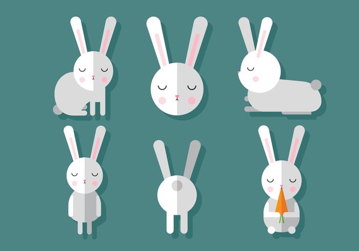 Vektor-Kaninchen-Set vektor