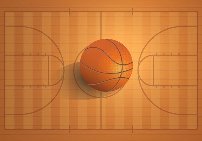 Basketball Realistischer Platz vektor