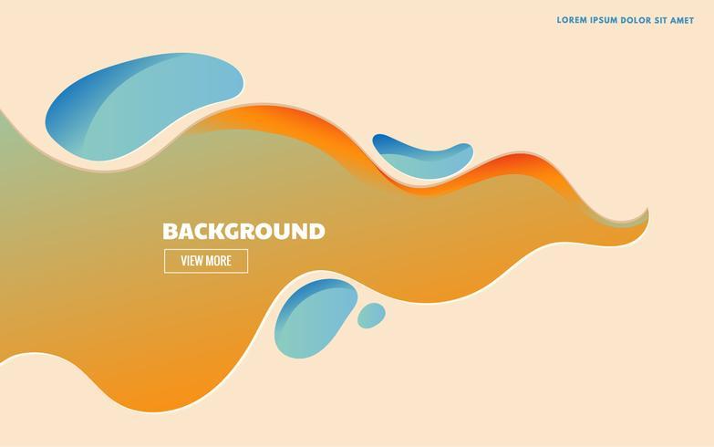 Gelber Landingpage Hintergrund vektor
