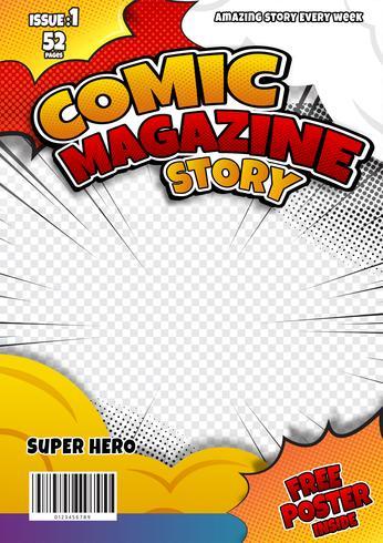 Comic-Seitenvorlagenentwurf. Zeitschriften Cover vektor