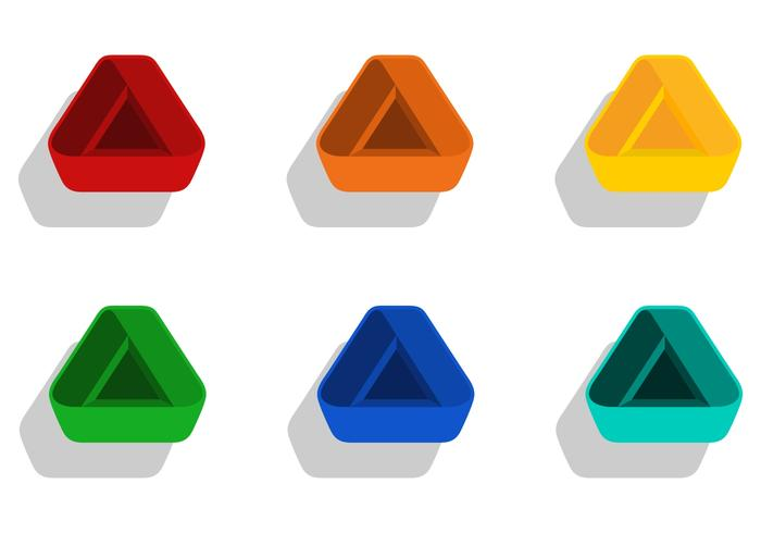 moderne Dreieckselemente vektor