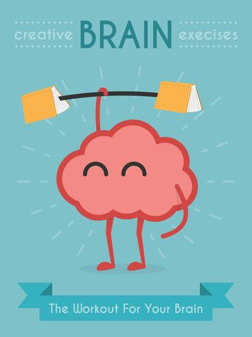Gehirn Konzept Vektor-Illustration vektor