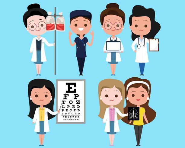 läkare karaktär uppsättning vektor