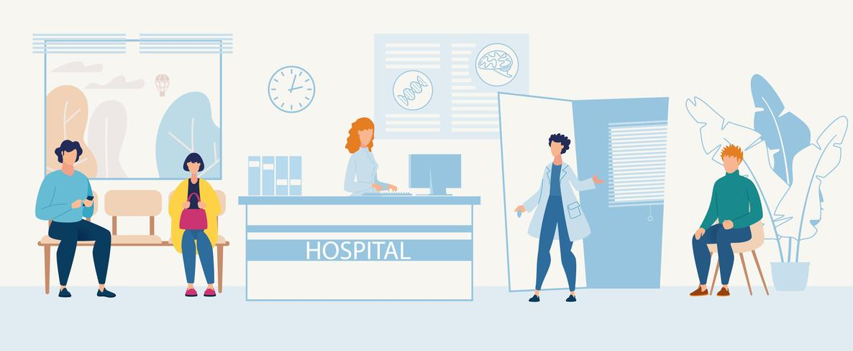 Werbeflyer Krankenhausaufnahme vektor