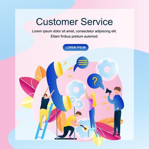 Kundendienst-Onlineshop der Bildgruppen-Leute vektor