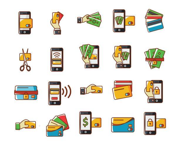 Kreditkarten-Icons vektor
