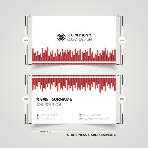 Rote Linie Technologie-Dekorations-Visitenkarte vektor