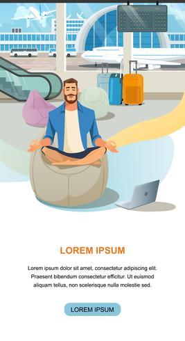 Moderne, komfortable Flughafen-Lounge-Website vektor