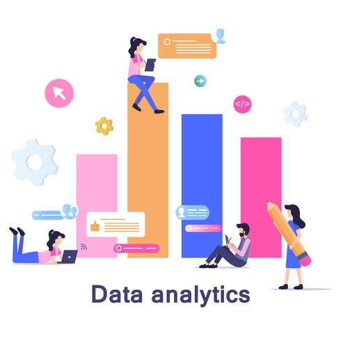 Entwicklung der Geschäftsdatenanalyse vektor