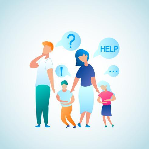 Förälder överklaga för hjälpdoktorn vektor