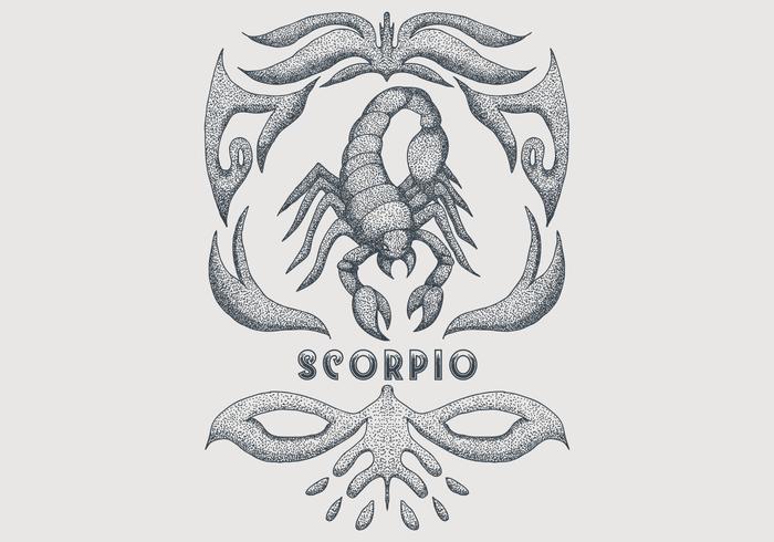 Vintage Skorpion Sternzeichen vektor
