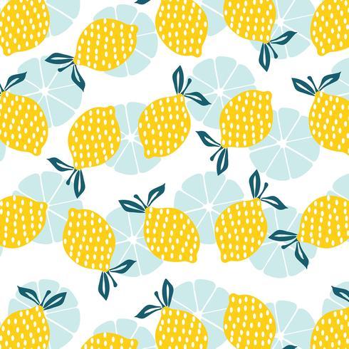 Zitronen-nahtloses Muster vektor