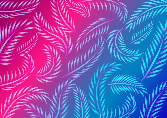 Neon Leaf Muster vektor