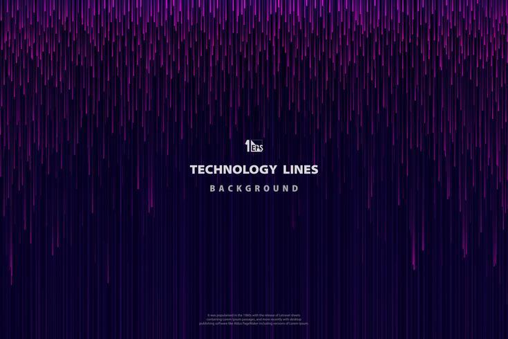 Purpurrote rosa Linien Muster der abstrakten Technologie vektor
