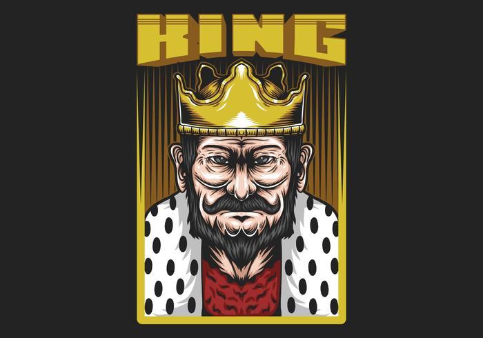 """König im Rahmen mit """"König"""" Text vektor"""