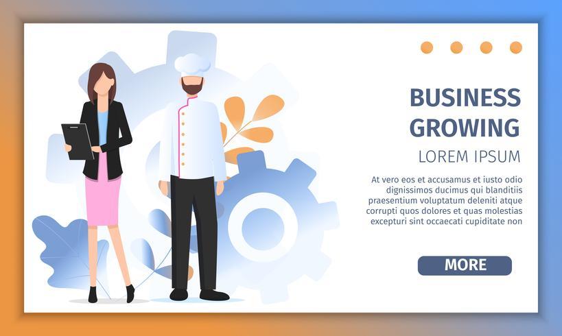 Restaurantchef Business Growth Solution Erfolg vektor
