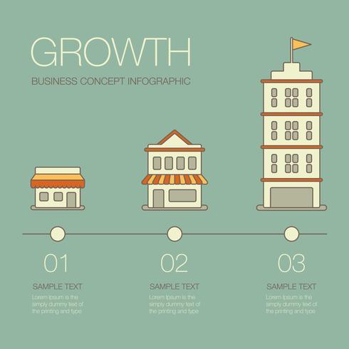 Geschäftswachstum Infografik vektor
