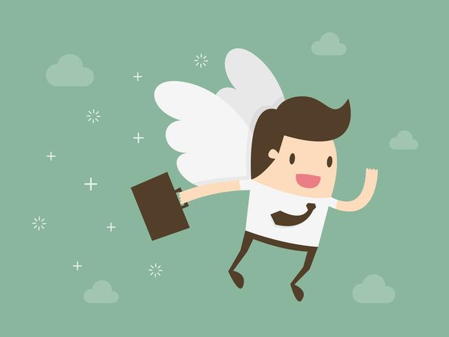 Angel Investor Geschäftsmann vektor