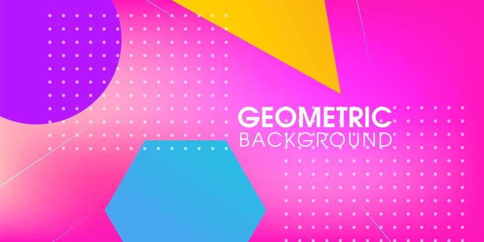 Kreative geometrische Zusammenfassung vektor