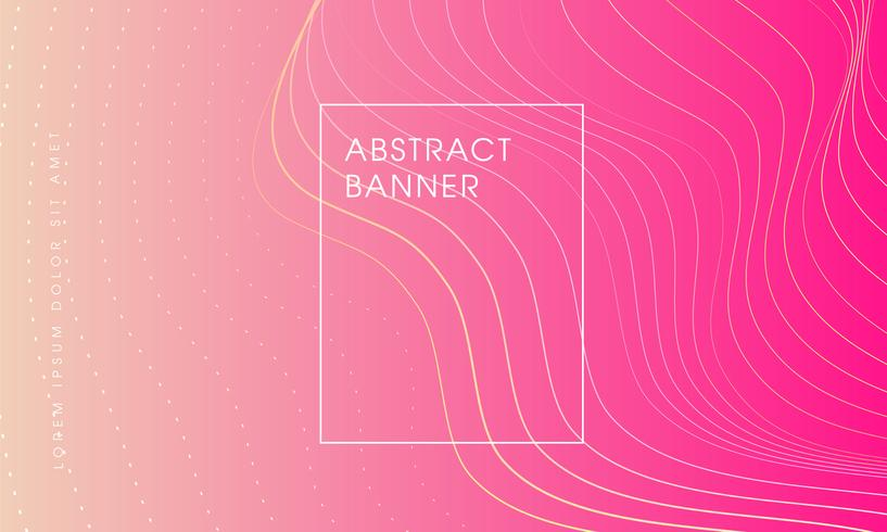 abstrakter Hintergrund mit rosa Schattenfahne. vektor