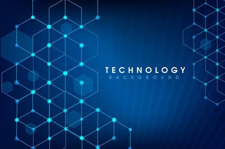vektor digital global teknik koncept