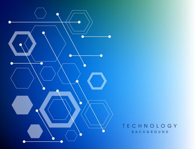 Digital bakgrund för blå abstrakt teknologi. vektor