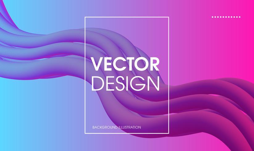Wellenförmiger geometrischer abstrakter Hintergrund. vektor