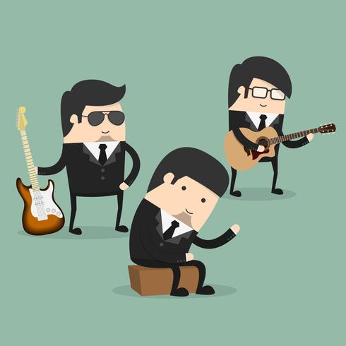 Grupp unga manliga musiker vektor