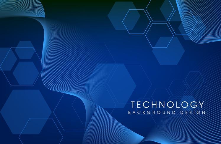 Vektor Hintergrundtechnologie. Illustration