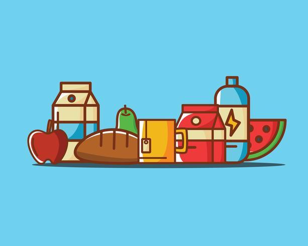 Nahrungsmittelabbildung Gesund vektor