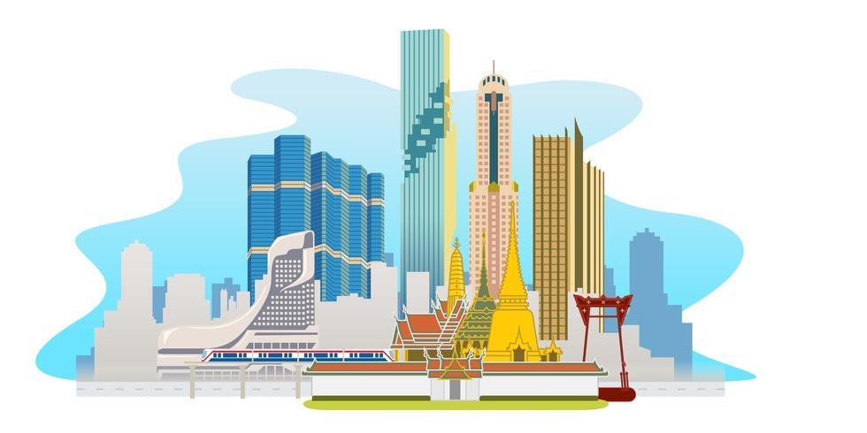Bangkok Megacity Panorama vektor