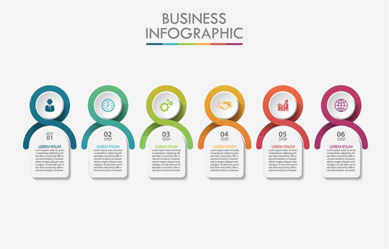 Infographik Vorlage. vektor