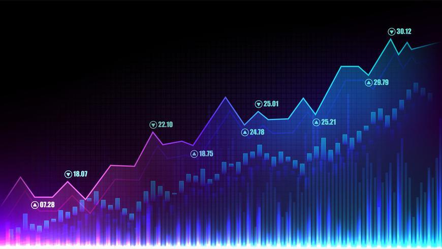 Aktiemarknads grafiskt koncept vektor