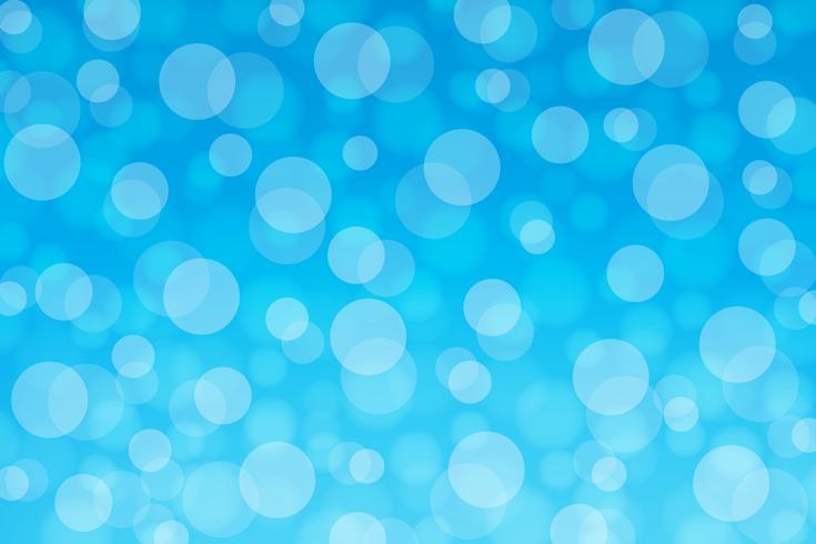 Bokeh cirkel blå bakgrund gradering vektor