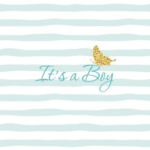 Es ist eine Babypartymitteilungsschablone des Jungen vektor