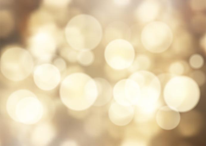 Goldenes bokeh beleuchtet Hintergrund vektor