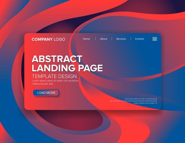 Landing Page Template Design vektor