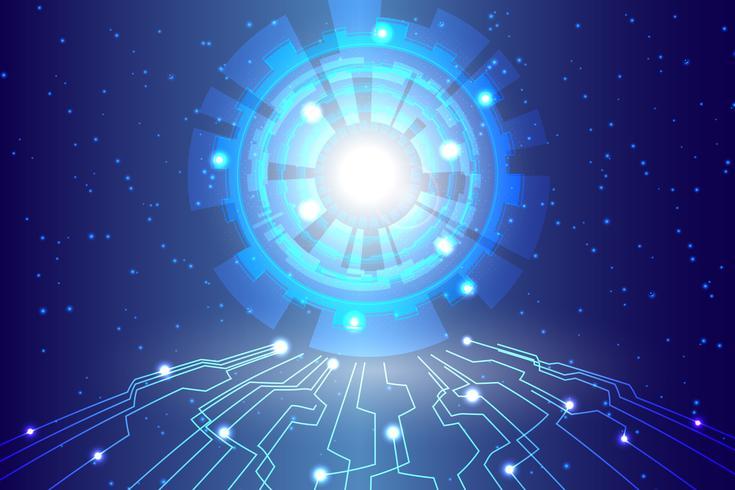 Abstrakt teknikbakgrund Hej teknisk kommunikation digital bakgrund vektor