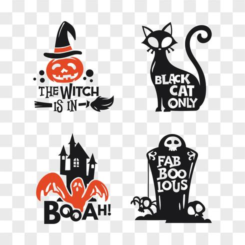 Uppsättning av Halloween ikoner vektor