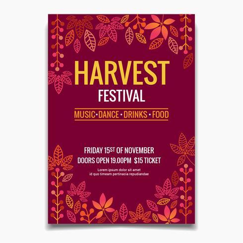 Harvest Festival Flyer vektor