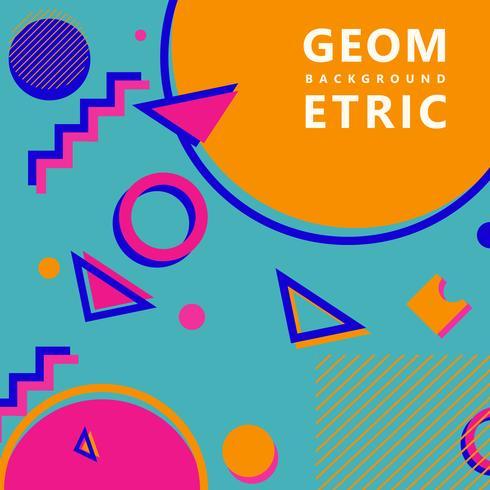 trendige geometrische Formen Memphis Hipster Hintergrund vektor