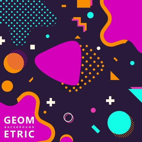 trendiga geometriska former memphis hipster bakgrund vektor