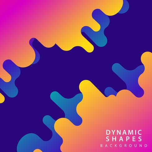 moderner abstrakter dynamischer Hintergrund vektor