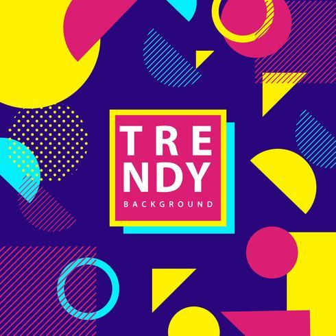 Trendy geometrischen Hintergrund vektor