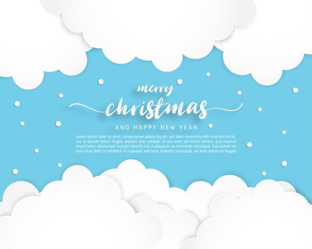 Frohe Weihnachten Schnee vektor
