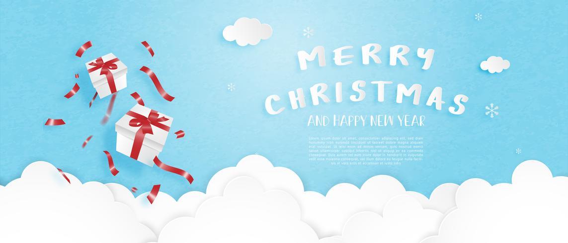 Frohe Weihnachten Banner vektor