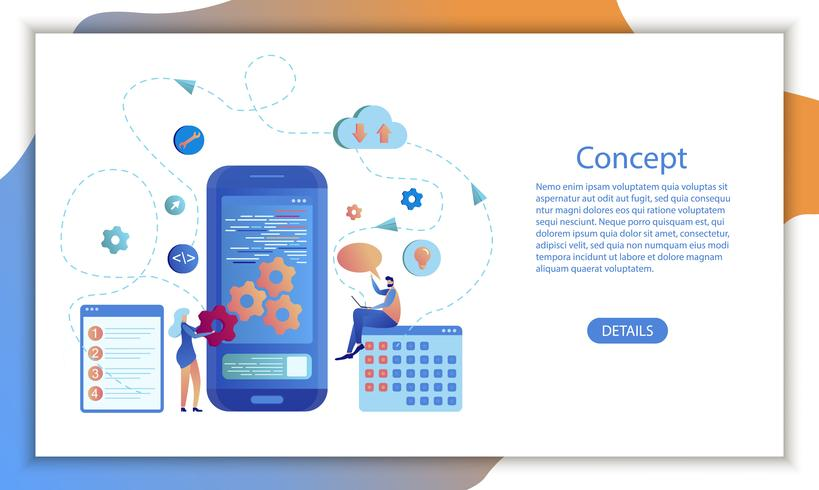 Design von Business-Kalender-Software für mobile Apps vektor